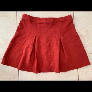 Forever 21 Burnt Orange Pleated Mini Skirt. Small.